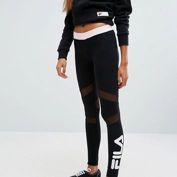Fila Leggings With Contrast Waistband And Leg Logo at asos.com