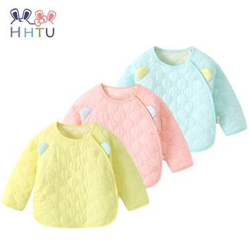 HHTU Newborn Baby Quilted Cotton Kid Coat Children Boy Girl Spring Autumn Keep Warm Long Sleeve Outerwear Jacket Coat Clothes