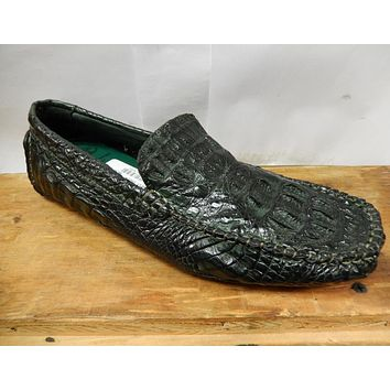 Calzoleria Toscana All-Over Horn-Back Crocodile Loafers