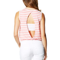 Stripe Banded Bottom Tank