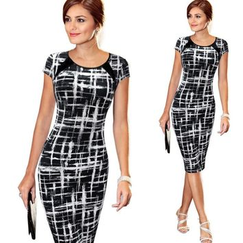 Victoria Women Printed Short Sleeve Dinner Girls Dress Midi Dresses Clothing