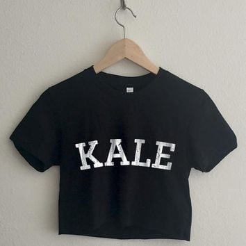 Kale Vintage Short Sleeve Cropped T Shirt