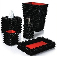 Quill Black Bath Accessories by Mike + Ally