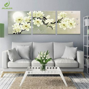 Canvas Print Decorative Wall For Living Room Modular Pictures Kitchen Green Orchid Picture Canvas Painting Room Art Print Flower