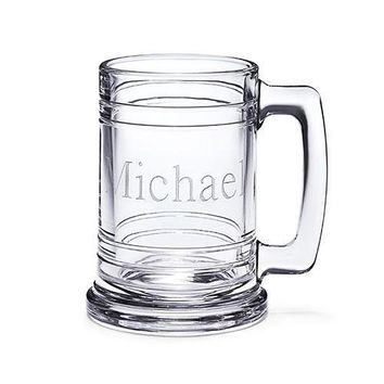Clear Glass Maritime Beer Mug (Pack of 1)