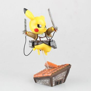 Pikachu Attack On Titan Pokemon Parody Funny Action Figure With Box