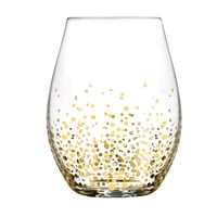 Fitz and Floyd Gold Luster Stemless Wine Glass (Set of 4)