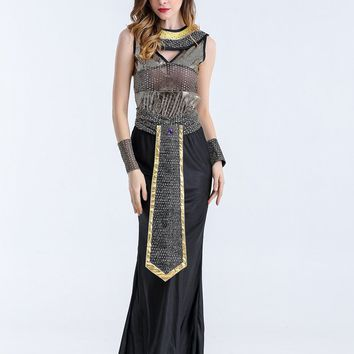 MOONIGHT Cosplay Halloween Costume Party Adult Costume Bar Party Queen Cleopatra Costume