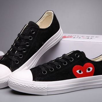 spbest Converse Comme Des Garcons Suede Chuck Taylor All Star  Black/White