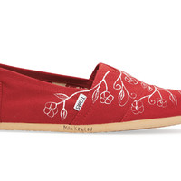 Red Norelus Branch Haiti Artist Collective Women's Classics US 7