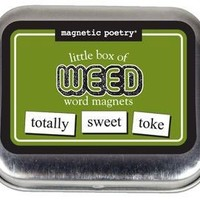 Magnetic Poetry - Little Box of Weed - Words for Refrigerator - Write Poems and Letters on the Fridge