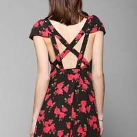 Kimchi Blue Cross-Back Floral Dress - Urban Outfitters