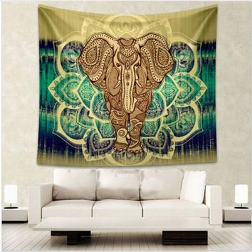 Wall Tapestries Indian Elephant Tapestry  Living Room Blanket
