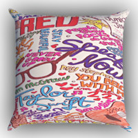 Taylor Swift Collage Zippered Pillows  Covers 16x16, 18x18, 20x20 Inches