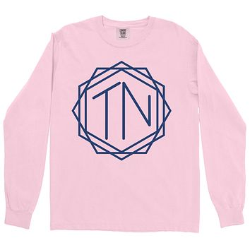 Adult TN Monogram on a Long Sleeve Blossom T-Shirt