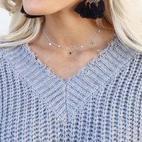Wherever Together Star & Rhinestone Choker Necklace