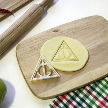Harry Potter Cookie Cutter Deathly Hallows Always Inspired Cookie Cutter Cupcake topper Fondant Gingerbread Cutters - Made from Eco Material