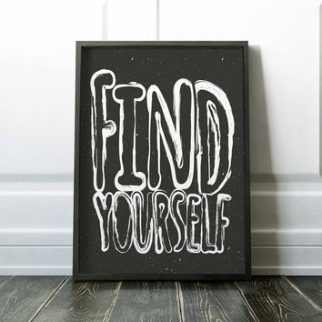 Find Yourself Painting Poster Art Print Canvas Print Wall Decor Canvas Poster Print Digital Print Designer Art Painting Wall Art Home Gift