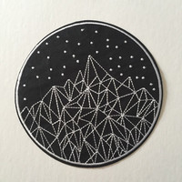 Mountain Constellations Giant Patch