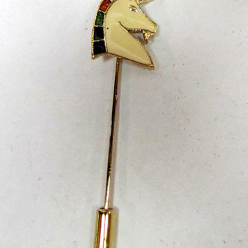 Vintage Unicorn Stick Pin Gold Tone and by VINTAGEandMOREshop