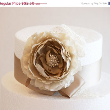 Champagne Wedding Cake Decorations, Champagne Wedding Accessory, Country rustic Cake Decoration, Neutral colors
