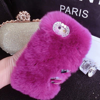 Fashion plush  phone case for iphone 6 6s 6 plus 6s plus + Nice gift box 080901
