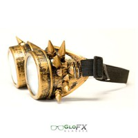 GloFX Brass Spike Diffraction Goggles