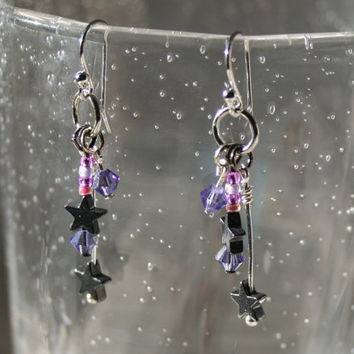 Twilight Sparkle Earrings  My Little Pony Cutie Mark by DorkSpork