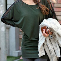 Dark Green Long Sleeve Bodycon Dress