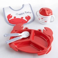 Crabby Baby Plate Set - Cool Baby Stuff at My Retro Baby!