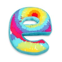 "One Grace Place Terrific Tie Dye Decorative Letter ""E"" Pillow"