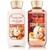 Bath & Body Works Pumpkin Latte & Marshmallow Lotion & Shower Gel (Set of Two)