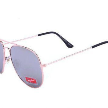 Ray Ban Aviator Classic RB3026 Grey Rose Gold Sunglasses