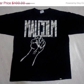 Hot Sales,Clearance stock Vintage  Rare 90s Malcolm X T-shirt size L