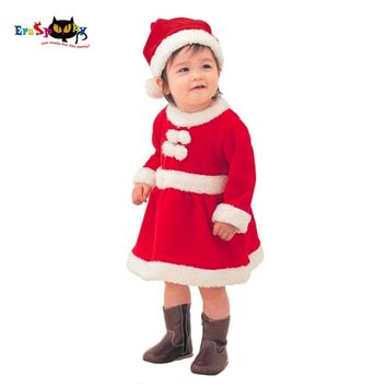 Eraspooky New Year Merry Christmas Clothing Children Christmas Costume Cosplay Boys Santa Baby Christmas Dress For Girls 2017