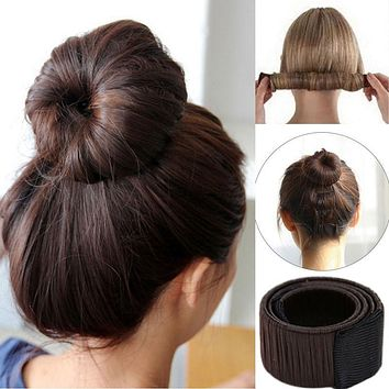 M MISM Girls Magic Hair Bun Maker Synthetic Tight Wrap Hair Accessories for Women Donut Styling Braid Holder Quick Dish Headband