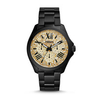 Cecile Multifunction Stainless Steel Watch - Black