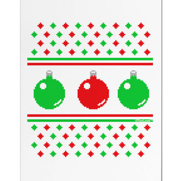 Ugly Christmas Sweater Ornaments Aluminum Magnet
