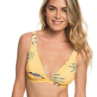 Printed Softly Love Elongated Tri Bikini Top 191274456911 | Roxy