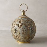 Tantallon Lantern by Anthropologie in Gold Size: