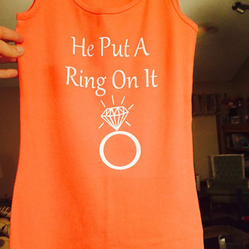 Wedding tanks, wedding tank tops, bachelorette party tank tops, mr and mrs t shirts, he put a ring on it tank top, newlywed tank tops, tanks
