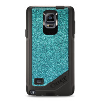 The Teal Glitter Ultra Metallic Samsung Galaxy Note 4 Otterbox Commuter Case Skin