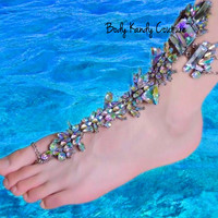 Gypsy Jeweled Barefoot Sandals