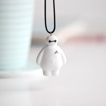 Handmade Ceramic Necklace White kolye Jewelry Cute Cartoon Pattern Pendant  for Men Women Lovers Small Gifts