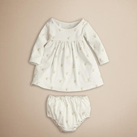 Burberry Baby Knight Cotton Dress