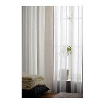 RITVA Curtains with tie-backs, 1 pair, white - 145x300 cm - IKEA