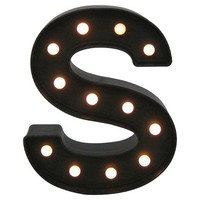 Marquee Letter S