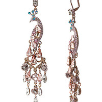 PINKTINA PEACOCK LARGE CHANDALER EARRINGS