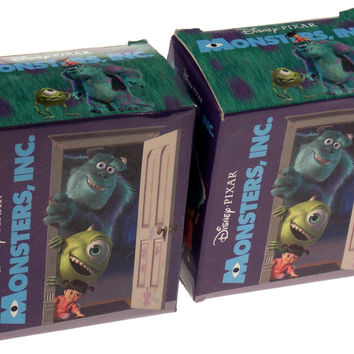 Lot of 2 Disney Pixar Monsters Inc Mega Mini Kit Sulley Figurine Magnets Book