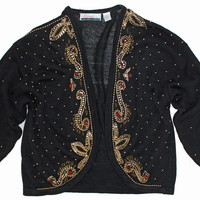 Golden Nights Beaded Cardigan XL